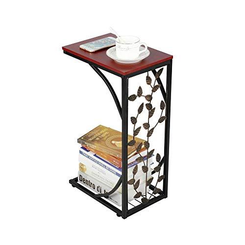 Yaheetech Tavolino per Soggiorno Tavolo Lato Piccolo da Divano Tavolino Basso da Salotto Moderno Tavolino da Caffè Porta Oggetti