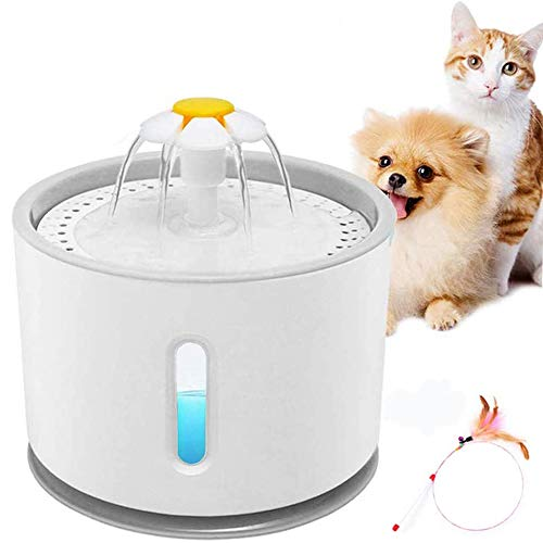 E-MANIS Fuente para Perros Gatos,2.4L Fuente de Agua Silenciosa para...