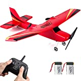 HAWK'S WORK 2 CH RC Airplane, RC Plane Ready to Fly, 2.4GHz Remote Control Airplane, Easy to Fly RC...