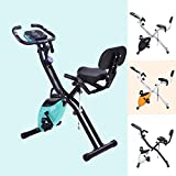 Vélo de fitness Merax - Avec entraînement et extenseur - 10 niveaux de...