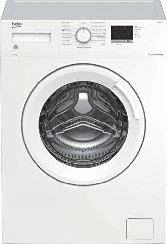 Beko WML61423N Waschmaschine, 3-6-9 h Startzeitvorwahl, Schleuderwahl, 1400 U/min, ProSmart Inverter Motor - mit 10 Jahren Motorgarantie, A+++, nur 41,5 cm tief - platzsparend