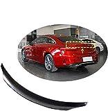 VTDOUQ Alerón Trasero De Coche Negro para Mercedes W213 E250 E300 E400 E450 E500 2017-2019 ala De Tapa De Maletero, Extensión De Techo Modificada De Fibra De Carbono Universal