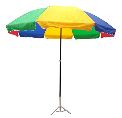 Lord's Multi Color Garden Umbrella 8 Ft Dia Heavy Duty With Thick Water Proof Fabric