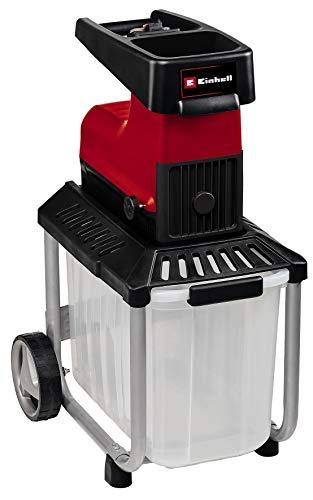 Einhell Broyeur électrique silencieux GC-RS60CB (2800W, cylindre de coupe, large entonnoir, commutateur-inverseur de rotation, bac de récupération transparent, interrupteur de sécurité intégré)