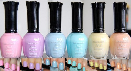 Kleancolor Nail Lacquers 6 ColorNEW Pastel Spring Collection