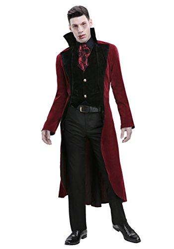 Men's Dreadful Vampire Costume Large Red