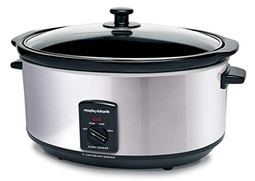 Morphy Richards 48715EE 48715 - Pentola ovale Slow Cooker, 6,5 litri, 6,5 litri