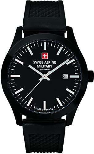 Swiss Alpine Military by Grovana Herren Armbanduhr schwarz 7055-1877SAM