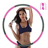Hula Hoops for Adults - Weighted Hula Hoops for Exercise - Hula Hoop for Kids, 2lb weighted hula hoop, 8 Detachable Sections - Professional hula hoops
