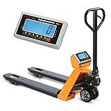 VisionTechShop TPS-1 Pallet Jack Scale, Lb/Kg Switchable, High Capacity 5000lb, 1lb Readability, 48' x 27' Fork Size, Heavy Duty Pallet Jack Scale
