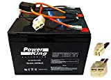 Razor 12 Volt 7Ah Electric Scooter Replacement Batteries High Performance - Set of 2 Includes New Wiring Harness (Replaces 6-DW-7)