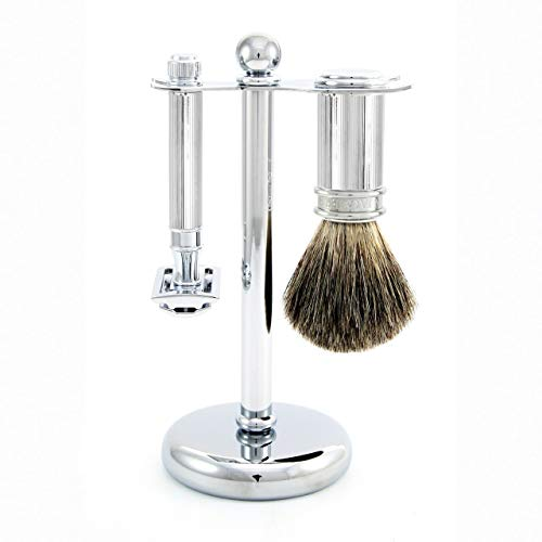 Edwin Jagger 3 Piece DE 89L Shaving Set - Chrome
