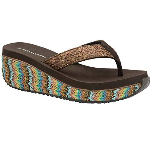 Dunlop, infradito da donna con zeppa bassa e rafia, sandali estivi perfetti per la spiaggia, numeri...