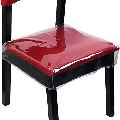 Homemaxs Chair Protector Waterproof PVC Dining Chair Covers Removable, Pack of 2