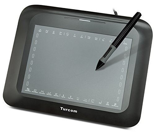 Turcom TS-6608 Graphic Tablet Drawing Tablets and Pen/Stylus for PC Mac Computer 8 x 6 Inches Surface Area 2048 Levels Pressure Sensitivity, 5080 LPI