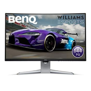 BenQ EX3203R Écran Gaming incurvé de 31.5 pouces, QHD 2K, HDR, 144 Hz, 1800R, FreeSync 2, Capteur de luminosité ambiante B.I., HDMI, Display Port, USB-C
