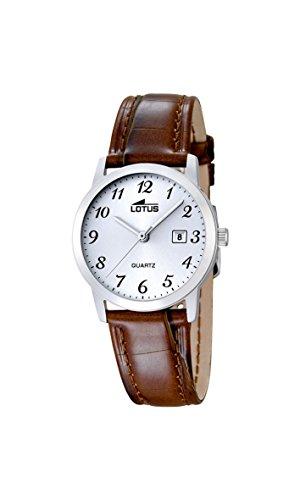 Lotus Damen Analoger Quarz Uhr mit Echtes Leder Armband 18240/2
