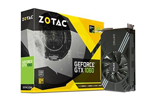 ZOTAC GeForce  GTX 1060 Mini, ZT-P10600A-10L, 6GB GDDR5 VR Ready Super Compact Gaming Graphics Card
