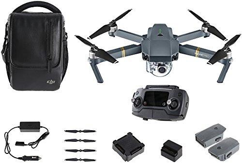 DJI - Mavic Pro Fly More Combo (Version UE)   Incl. 1 Drone Quadricoptère, 1 Batterie de Vol Intelligente, 1 Radiocommande, 1 Chargeur Voiture & Autres   Photos & Vidéos en Haute Résolution