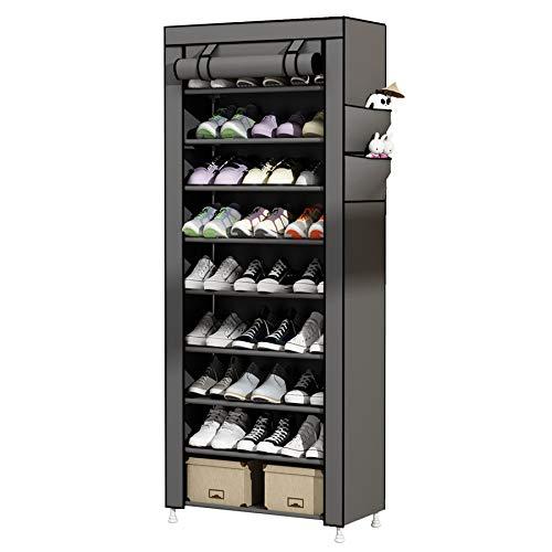 UDEAR Zapato del gabinete Zapatero de Tela 10 Niveles...