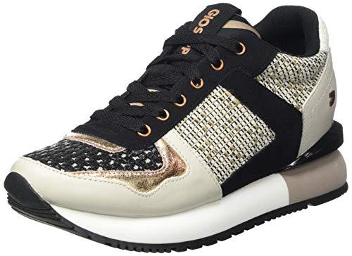 Sneakers con Mix DE Texturas Bicolor para Mujer Lubbock
