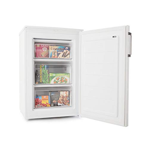 KLARSTEIN Garfield XL Eco + - Congelatore, 80 L, 3 Cassetti, Altezza Regolabile, 41 dB, Economico,...