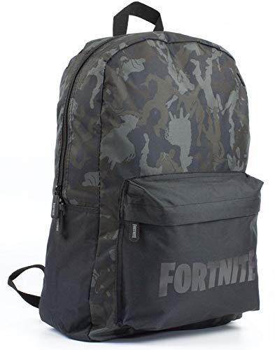 Carácter Fortnite Camo Llama todo la impresión Negro/caqui mochila bolsa