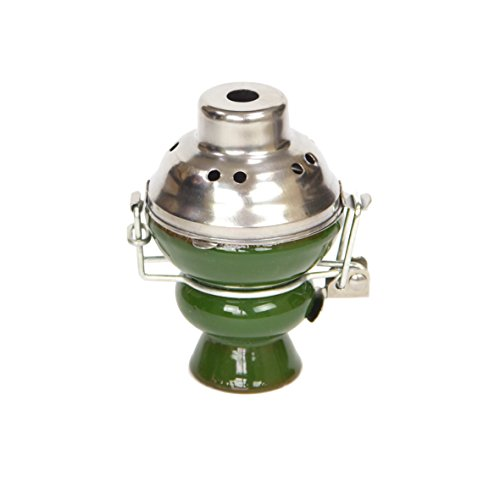 Cazoleta de 6 colores diferentes con cortavientos cubrevientos (Verde)