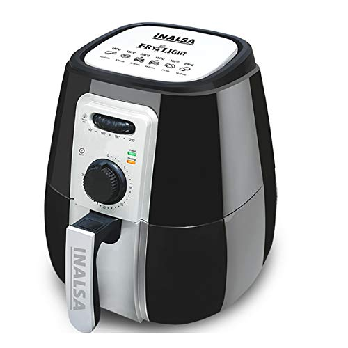 Inalsa Air Fryer Fry-Light-1400W with 4.2L Cooking Pan Capacity, Timer Selection and Fully...