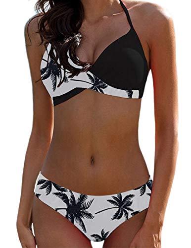 Bikini Elegante Traje de Baño Conjunto Bañador Halter Sexy...