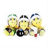 DEMIN Super Mario Bros Peluche Koopa-Troopa Hammer Relleno Peluche Toys Muñeca Niños Regalos 3 PCS 18 cm
