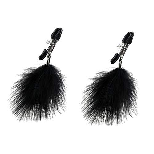 Artibetter 1 para nippelklemme mit federn sicherheitsnippel clip brustklemmen stimulator spielzeug für paare (schwarz)
