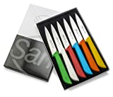 Sanelli Jolly Skin - Juego de cuchillos de cocina (6 unidades, acero inoxidable)