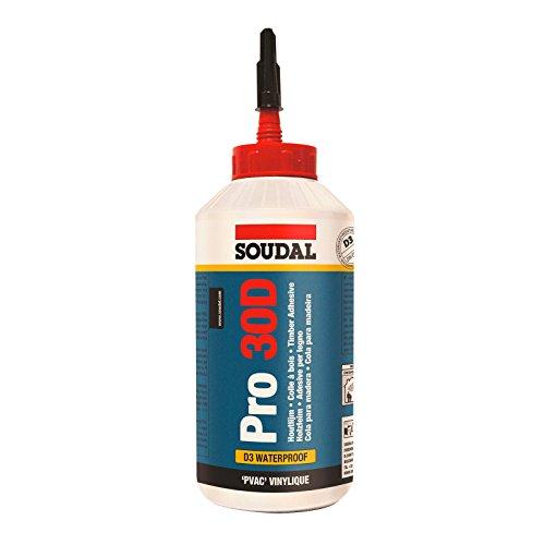 Soudal Pro 30 D Holzleim 750g Flasche D3 Leim