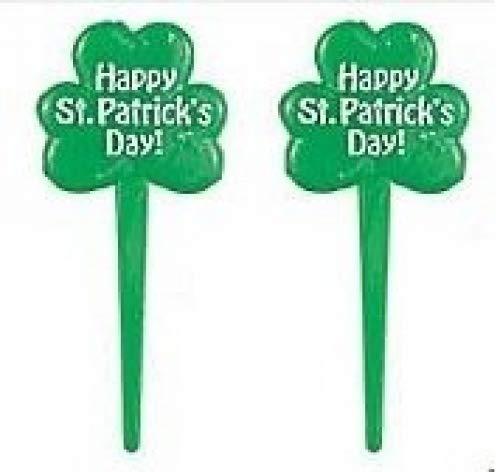 St Patricks Day Shamrock Cupcake Picks Set of 12