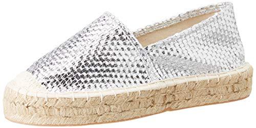 FOR TIME Z603, Zapatillas Mujer, Plata, 41 EU