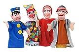 HOFF Set 4 marionnettes a Main Deluxe : guignol, Gendarme, Voleur, Chaperon Rouge - Theatre Enfant - Jeu d'imitation, Role