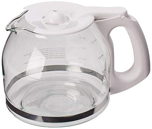 Mr. Coffee Replacement 12-Cup Glass Carafe, White - PLD13-RB