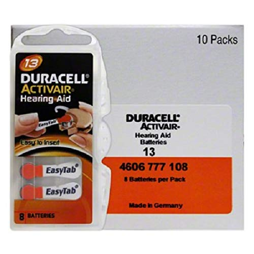 Duracell Activair Hearing aid Batteries: Size 13 (Pack of 80)