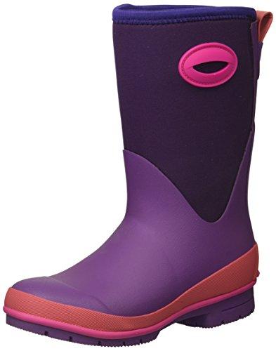 Western Chief Kid's Cold Rated Neoprene Memory Foam Snow Boot, Purple, 2 M US Little Kid