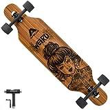 APOLLO Longboard Skateboard - Premium Long Boards for Adults, Teens and Kids. Cruiser Long Board Skateboard. Drop Through Longboards Made of Bamboo & Fiberglass - Longboard Skateboards