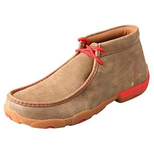 Twisted X Red Lace Bomber Driving Moccasins, 8.5W
