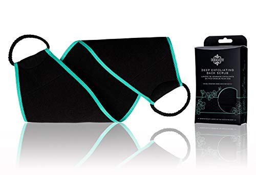 DERMASURI Deep Exfoliating Back Scrubber for Body, Shower Exfoliation Tool