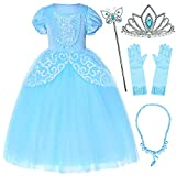 Party Chili Princess Costume for Girls Dress Up with Accessories 5T 6T