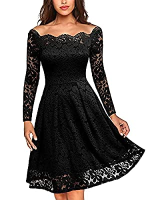 Size RECOMMEND:US 0/2(X-Small), US 4/6(Small), US 8/10(Medium), US 12/14(Large), US 16/18(X-Large),US 20 (XX-Large) Above Knee, Long Sleeve, Left Side Hidden Zipper, Floral Pattern Retro Elegant Style,Full Lace Overlay, Suit for Evening,Cocktail,Wedd...