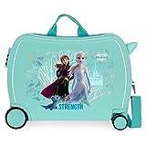 Disney Frozen Find Your Strenght Maleta Infantil Azul 50x38x20 cms Rígida ABS Cierre combinación 38L 2,1Kgs 4 Ruedas Equipaje de Mano