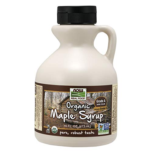 NOW Foods Organic Maple Syrup, Grade A, Dark Color (formerly Grade B), 16-Ounce