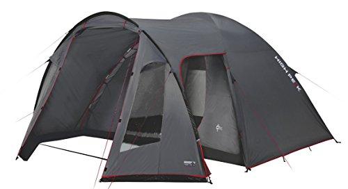 High Peak Kuppelzelt Tessin 5, Campingzelt mit Vorbau, 2 Eingänge, Familien-Zelt für 5 Personen, extra hoher Eingang, doppelwandig, 3.000 mm wasserdicht, Ventilationssystem, Moskitoschutz