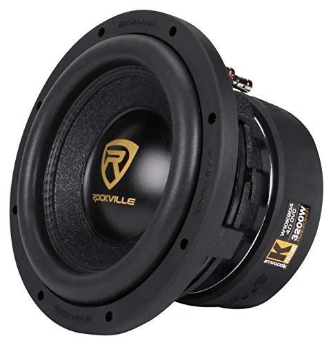 Rockville W10K9D4 10' 3200w Car Audio Subwoofer Dual 4-Ohm Sub CEA Compliant