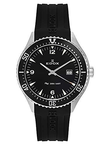 EDOX Herren-Armbanduhr C1 Diver Datum Analog Quarz 53016 3CA NIN